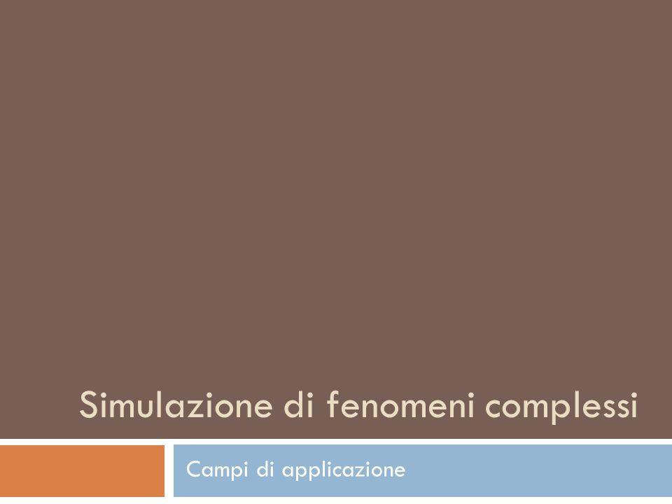 Simulazione di fenomeni complessi Campi di applicazione