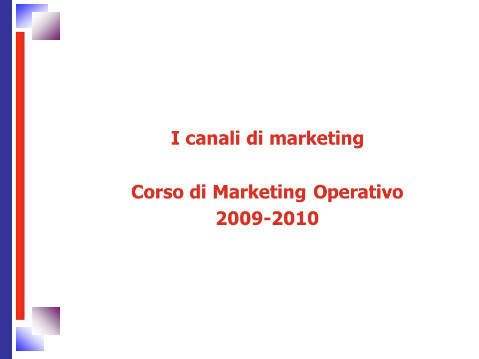 Comportamento e organizzazione dei canali Sistemi verticali di marketing amministrati La posizione dominante non è dettata dalla proprietà o da contratti, ma dalle dimensioni e dal potere di uno dei membri del canale Può essere produttore ma anche distributore