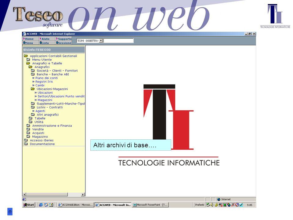 Questa, ad esempio, è una nota che verrà presentata all'operatore ogni volta che si troverà ad operare in VENDITA per il cliente LOGISTIC SRL dal 1/12/2002 al 31/12/2002.