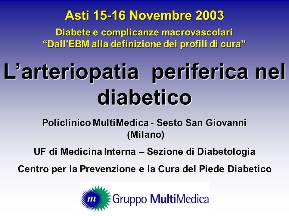 Policlinico MultiMedica - Sesto San Giovanni (Milano) UF di Medicina Interna – Sezione di Diabetologia Centro per la Prevenzione e la Cura del Piede D