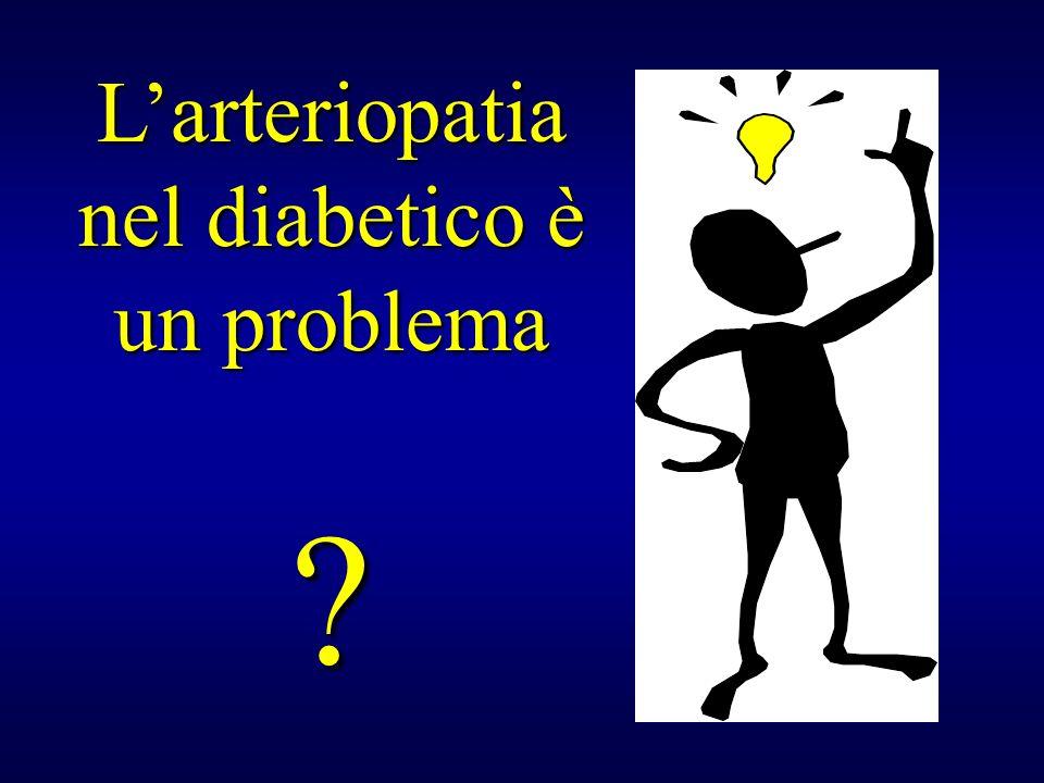 L'arteriopatia nel diabetico è un problema ?