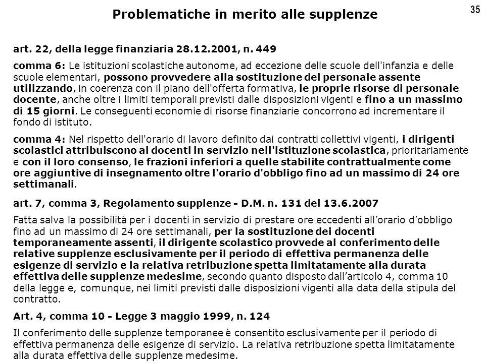 35 art. 22, della legge finanziaria 28.12.2001, n.