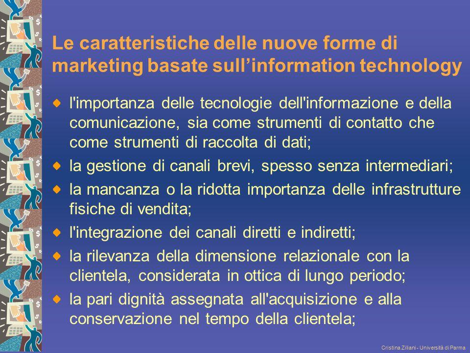 Cristina Ziliani - Università di Parma Le caratteristiche delle nuove forme di marketing basate sull'information technology l'importanza delle tecnolo