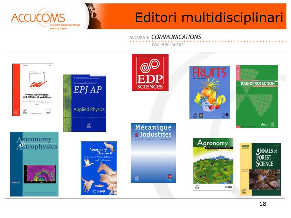 18 Editori multidisciplinari