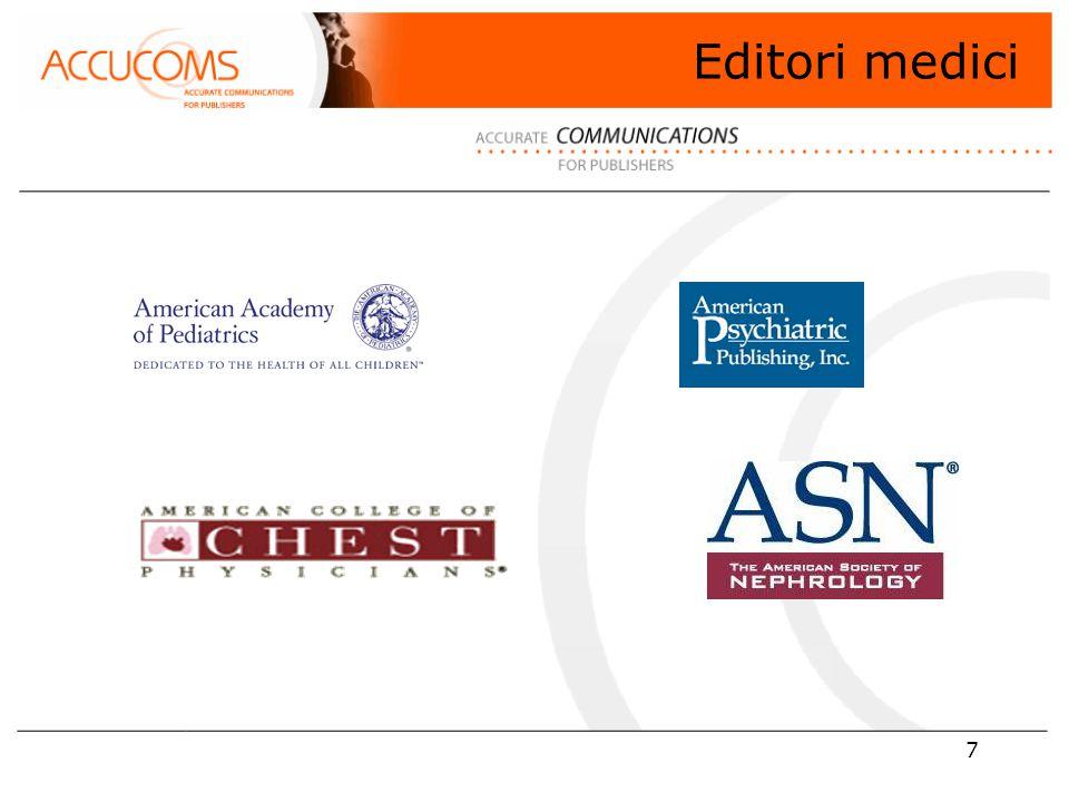 8 Editore di 5 riviste leader che coprono: Clinical articles Research studies Review articles Storia della pediatria Evidence-based commentary News