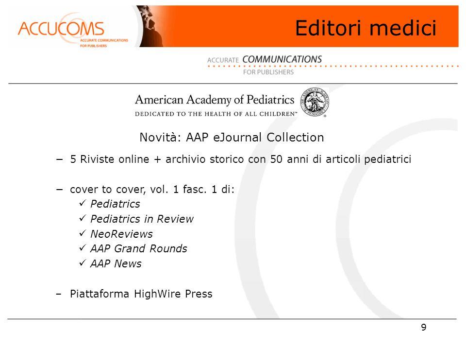 40 Editori con risorse in trial