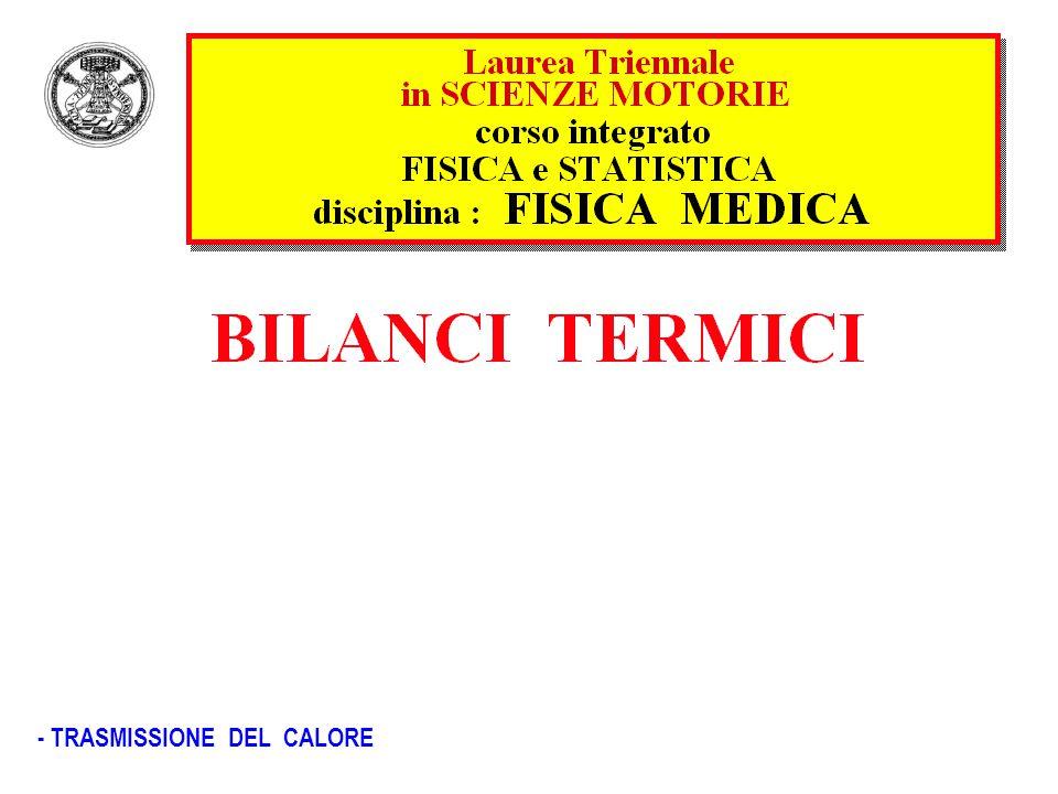 - TRASMISSIONE DEL CALORE