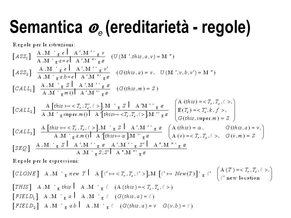 Semantica  e (ereditarietà - regole)