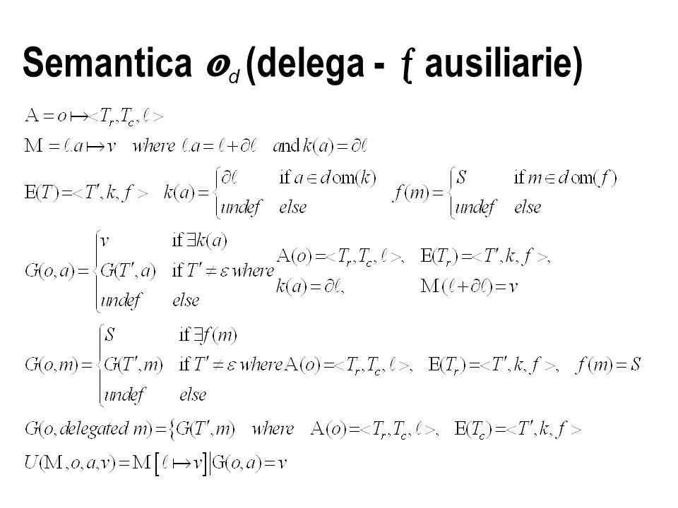 Semantica  d (delega -  ausiliarie)