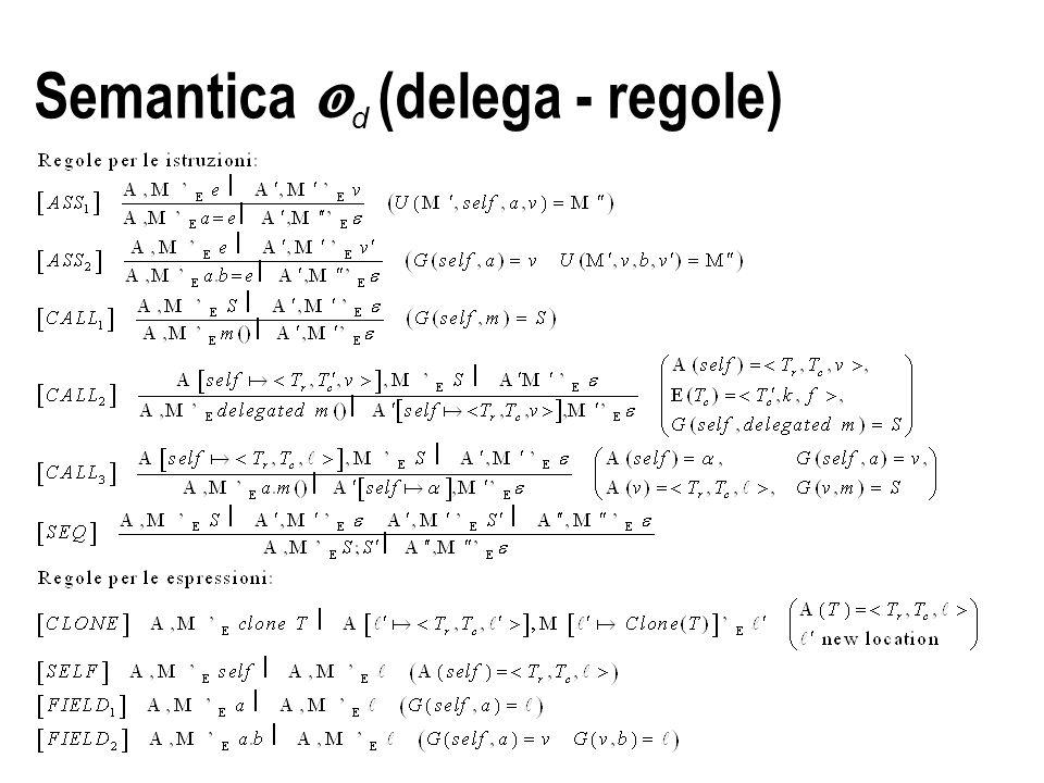 Semantica  d (delega - regole)