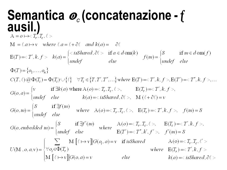 Semantica  c (concatenazione -  ausil.)