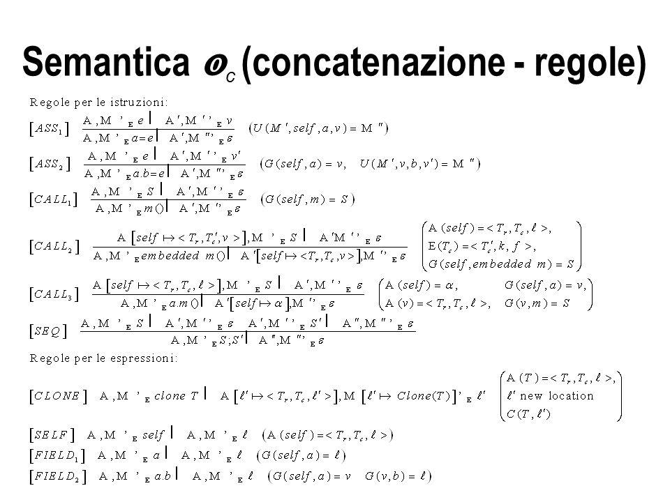 Semantica  c (concatenazione - regole)