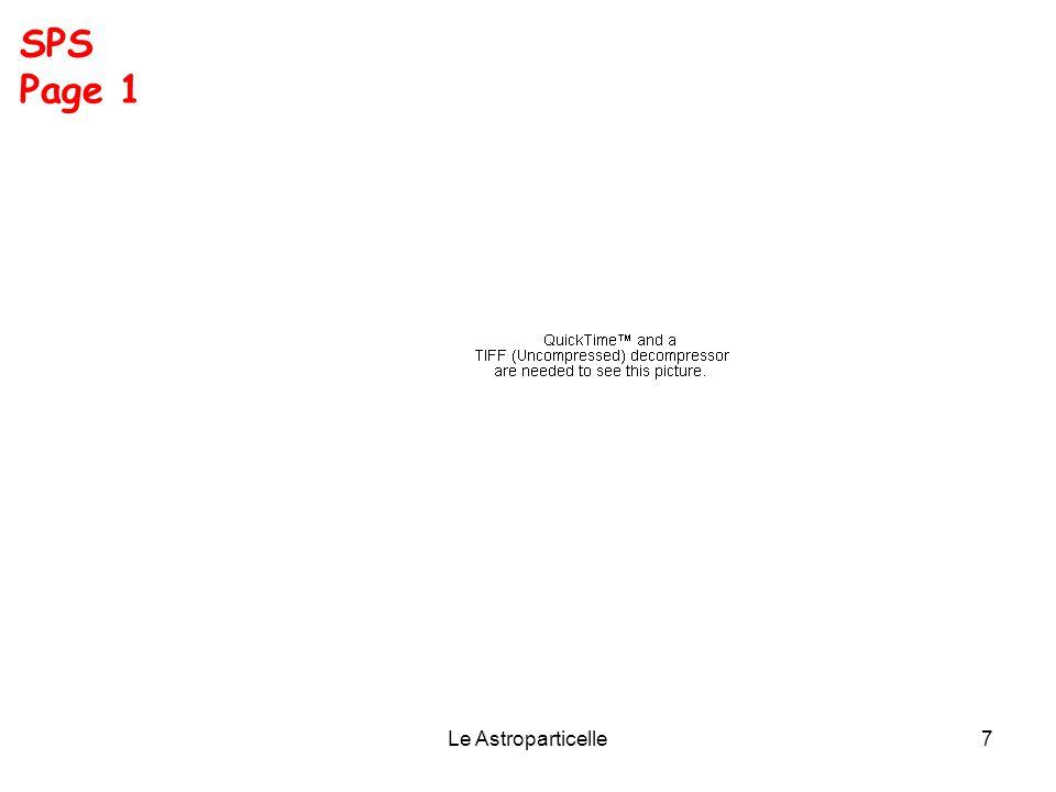 Le Astroparticelle7 SPS Page 1