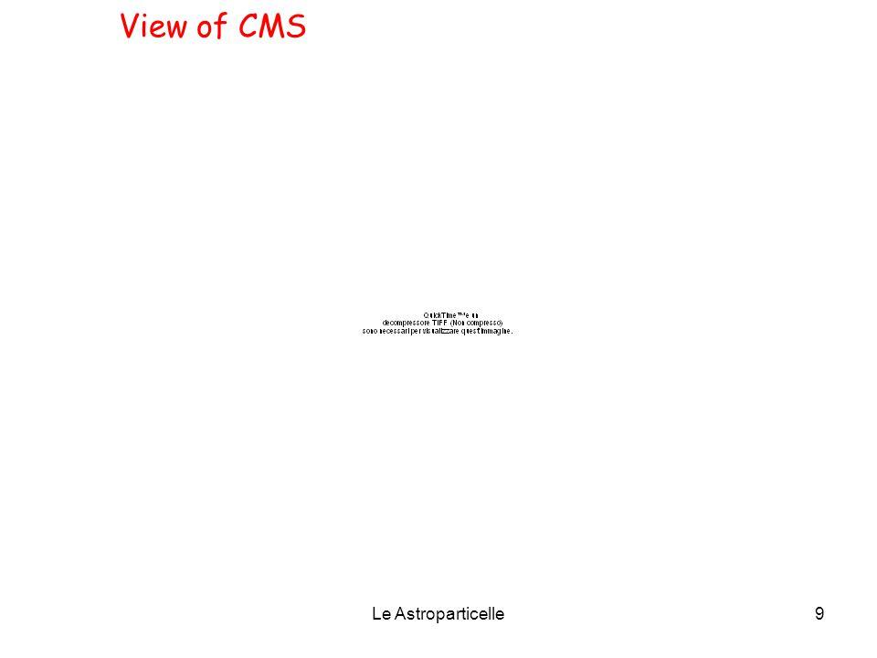 Le Astroparticelle10 Un evento di fondo prodotto da un solo fascio in CMS il 7/11/09