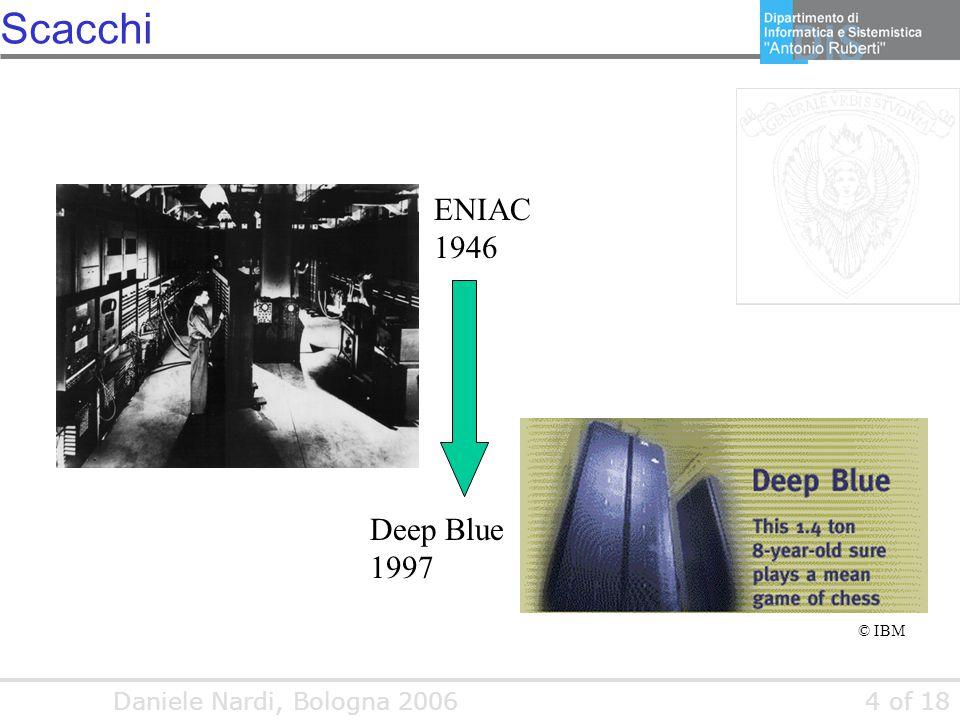 Daniele Nardi, Bologna 20064 of 18 Scacchi ENIAC 1946 Deep Blue 1997 © IBM