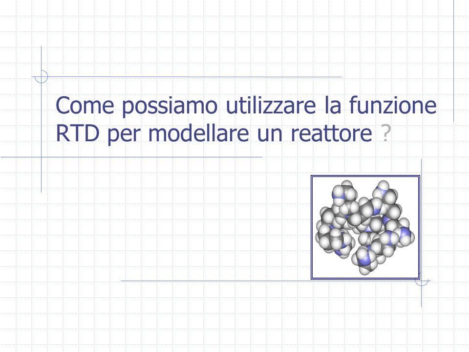 Come possiamo utilizzare la funzione RTD per modellare un reattore ?