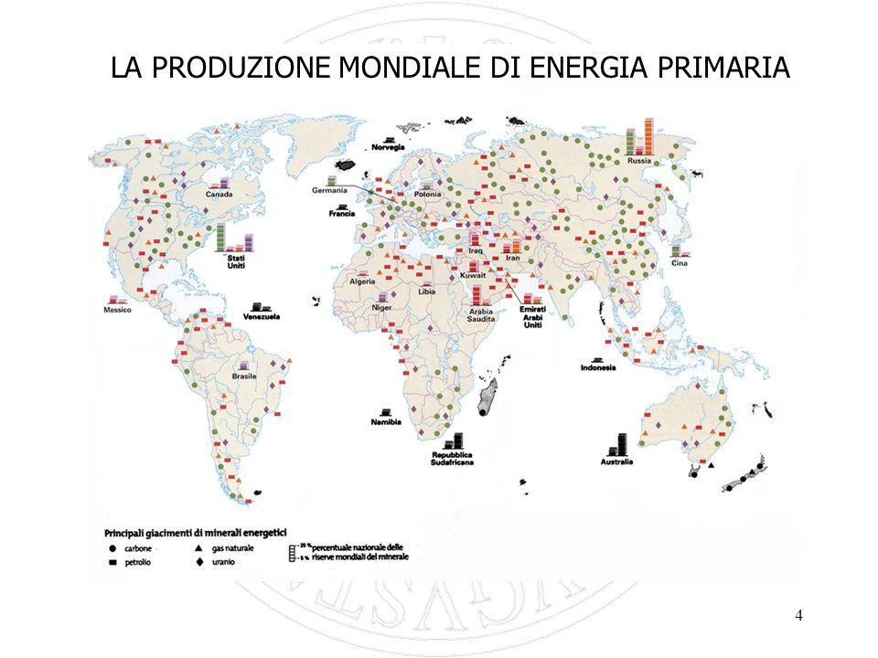 4 LA PRODUZIONE MONDIALE DI ENERGIA PRIMARIA