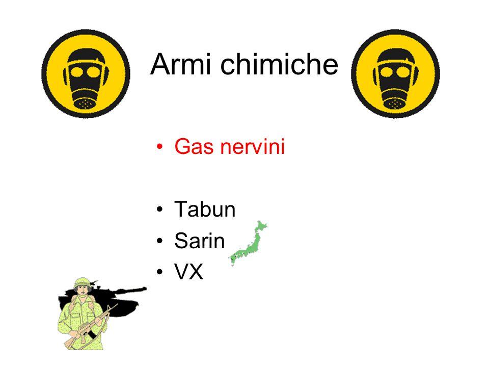 Armi chimiche Gas nervini Tabun Sarin VX