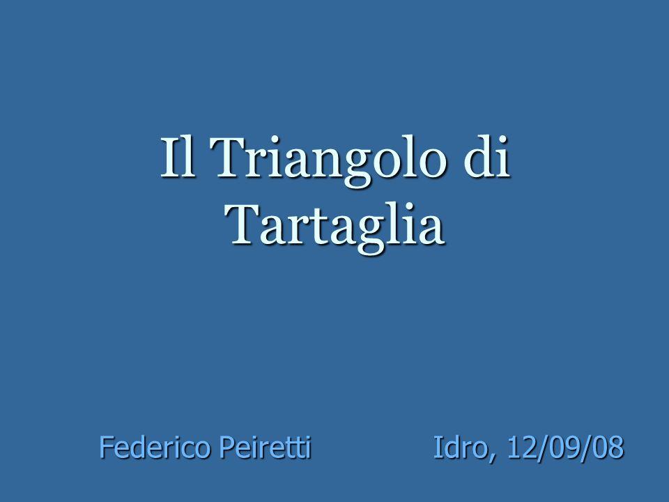 Il Triangolo di Tartaglia Federico PeirettiIdro, 12/09/08
