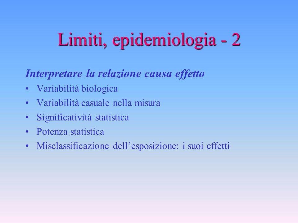 Limiti, epidemiologia - 1 Mettere in relazione fenomeni: indici di associazione