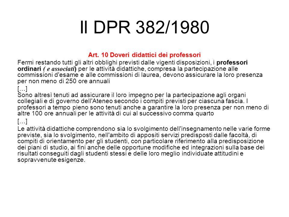 Il DPR 382/1980 Art.