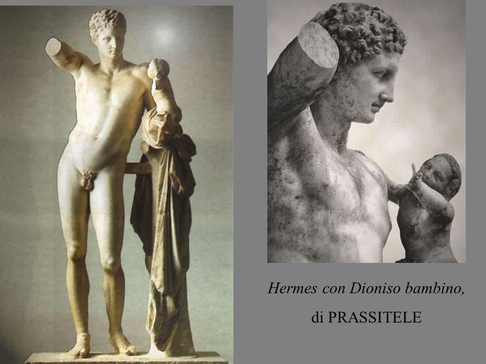 Hermes con Dioniso bambino, di PRASSITELE