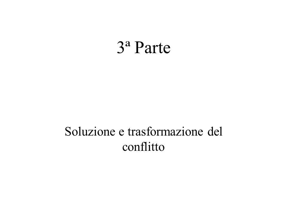 3ª Parte Soluzione e trasformazione del conflitto