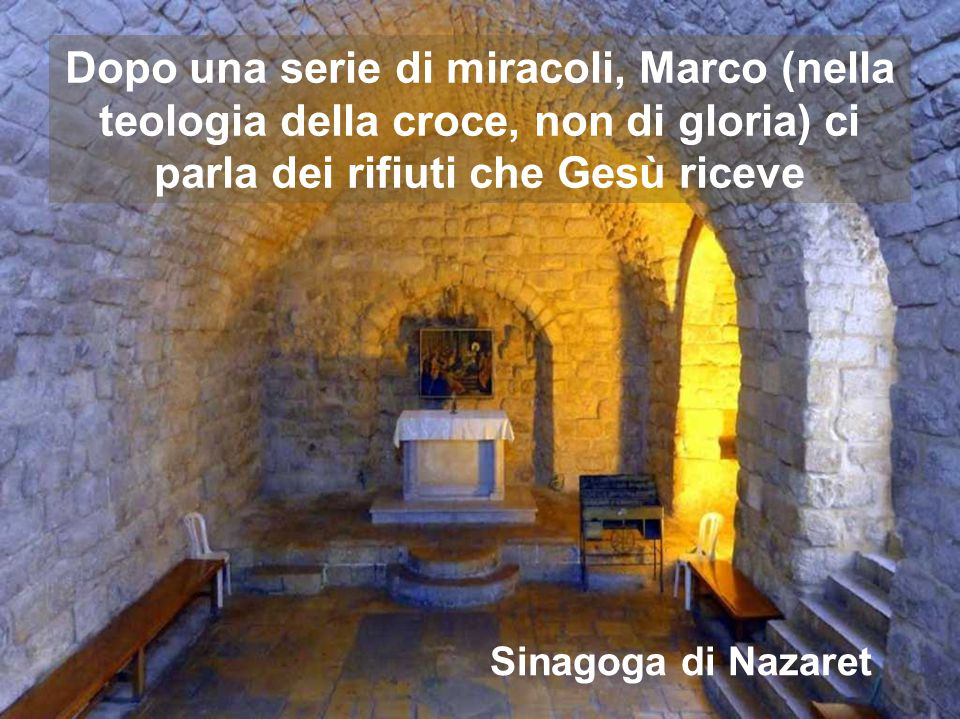 14 TEMPO ORDINARIO Anno B Ascoltando Ad Faciem di Buxtehude, accarezziamo il dolce volto di Gesù, che i nazareni rifiutano Regina