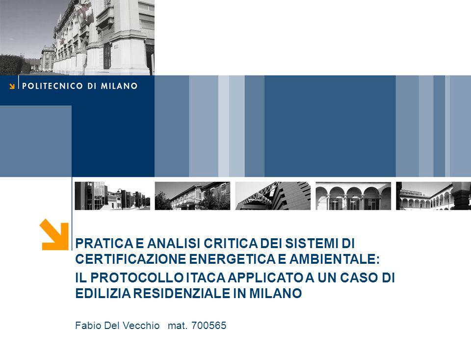 Nome relatore 12 Fabio Del Vecchio mat.700565 Carichi ambientali P.