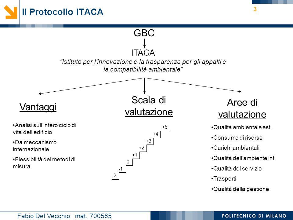 """Nome relatore 3 Il Protocollo ITACA Fabio Del Vecchio mat. 700565 GBC ITACA """"Istituto per l'innovazione e la trasparenza per gli appalti e la compatib"""