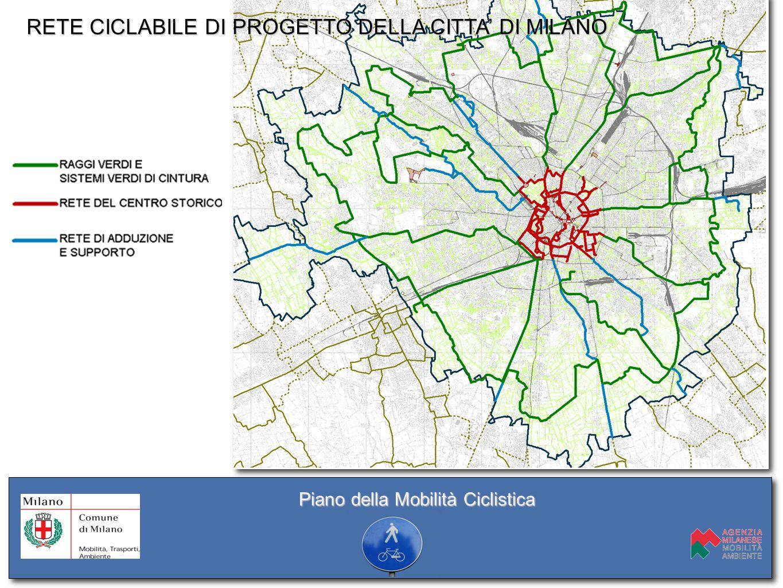 RETE CICLABILE DI PROGETTO DELLA CITTÀ DI MILANO RETE CICLABILE DI PROGETTO DELLA CITTA' DI MILANO Piano della Mobilità Ciclistica