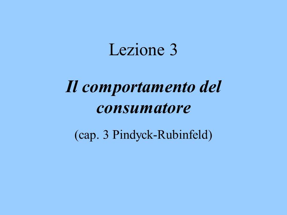 Lezione 3 Il comportamento del consumatore (cap. 3 Pindyck-Rubinfeld)