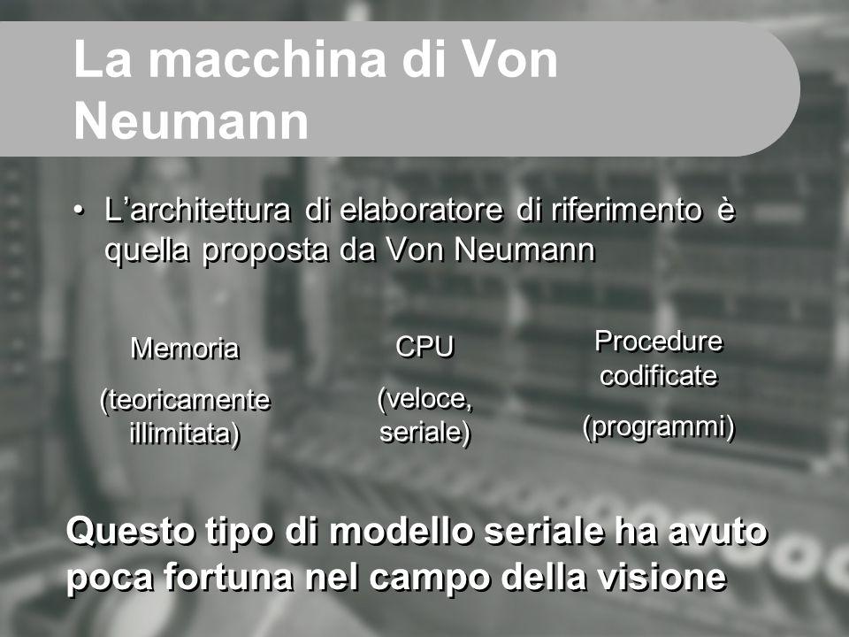 La macchina di Von Neumann L'architettura di elaboratore di riferimento è quella proposta da Von Neumann Memoria (teoricamente illimitata) Memoria (te