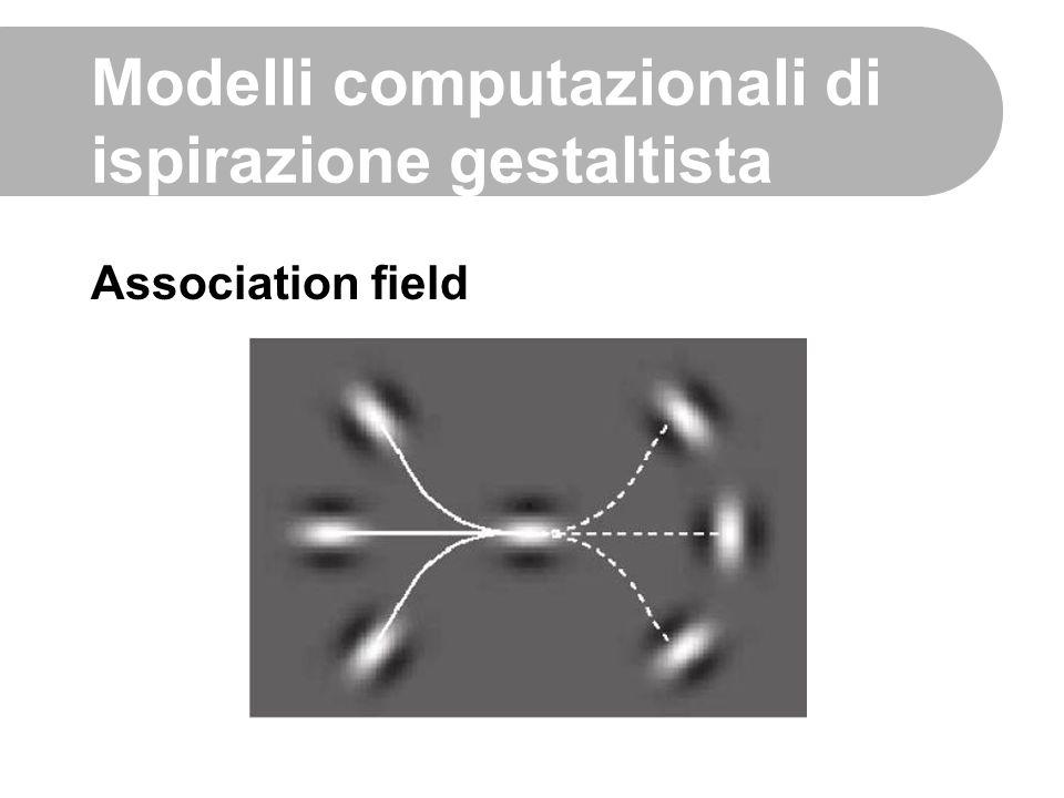 Association field Modelli computazionali di ispirazione gestaltista