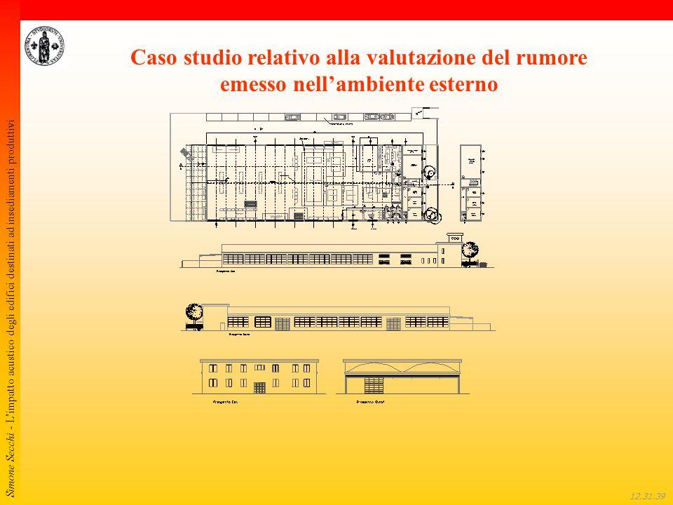 Simone Secchi - L'impatto acustico degli edifici destinati ad insediamenti produttivi 12.32.01 Caso studio relativo alla valutazione del rumore emesso