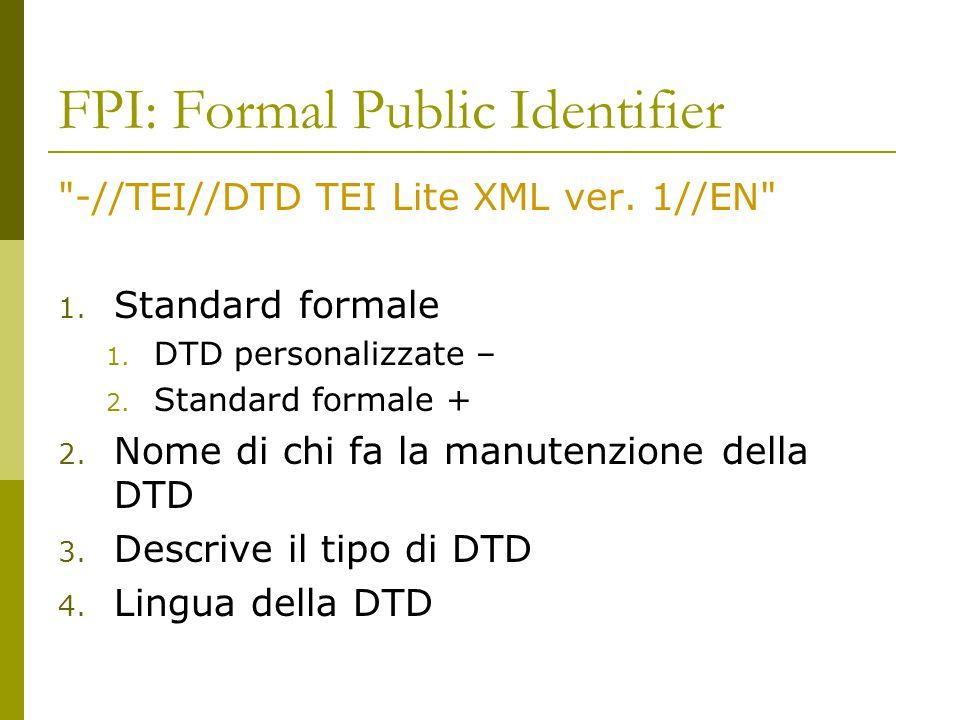 FPI: Formal Public Identifier