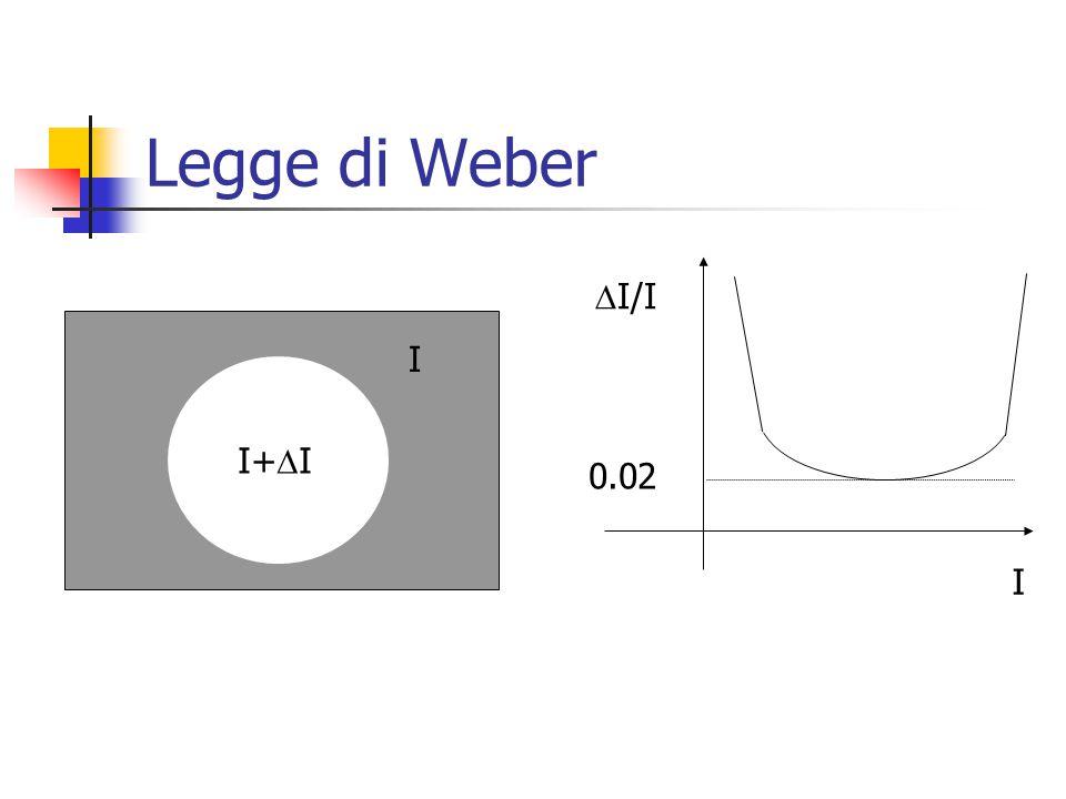 Legge di Weber I+  I I I  I/I 0.02