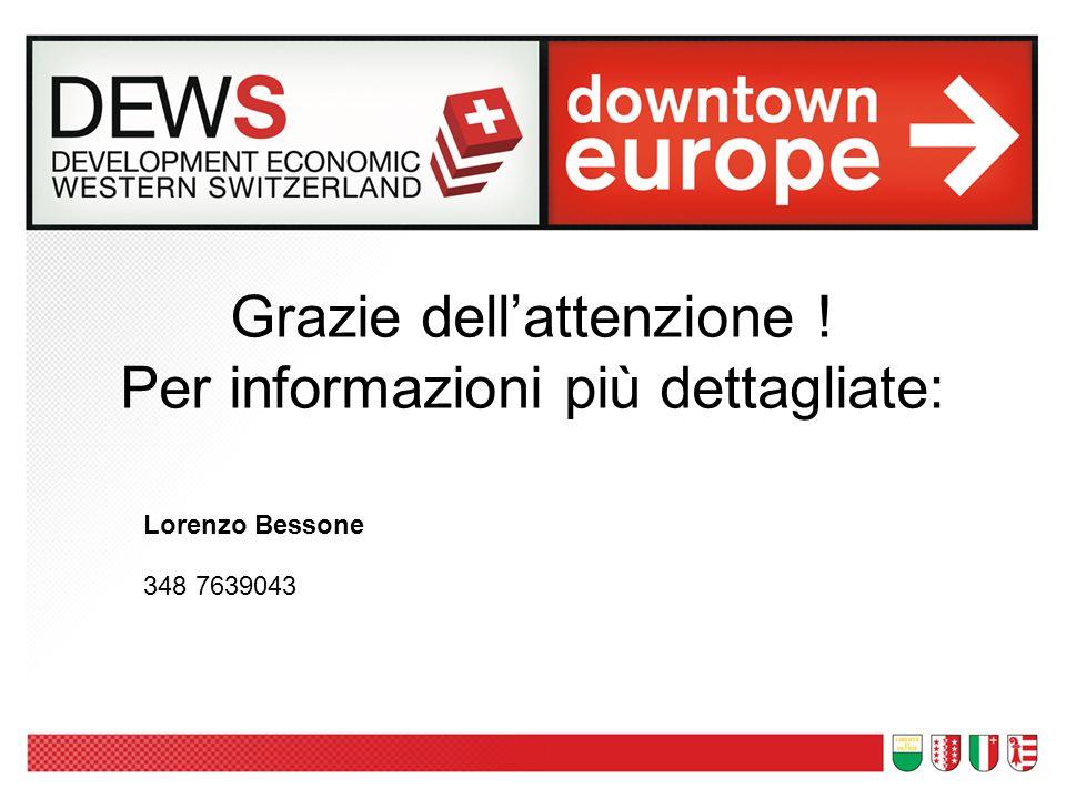 Grazie dell'attenzione ! Per informazioni più dettagliate: Lorenzo Bessone 348 7639043
