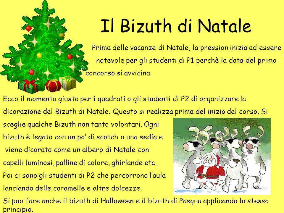 Il Bizuth di Natale Prima delle vacanze di Natale, la pression inizia ad essere notevole per gli studenti di P1 perchè la data del primo concorso si a