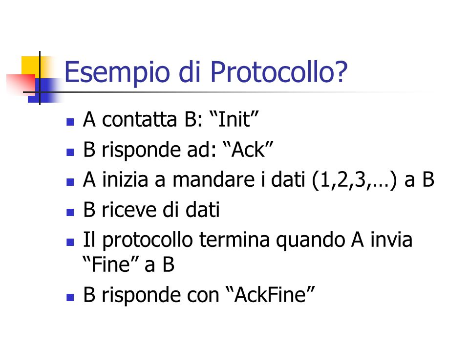 Esempio di Protocollo.