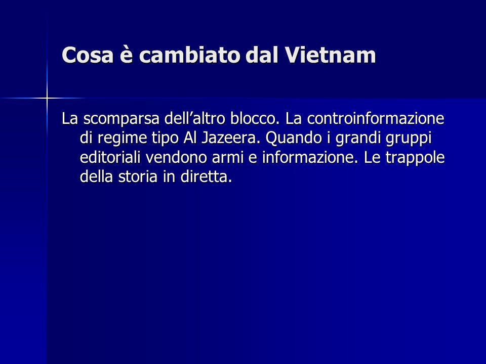 Cosa è cambiato dal Vietnam La scomparsa dell'altro blocco.