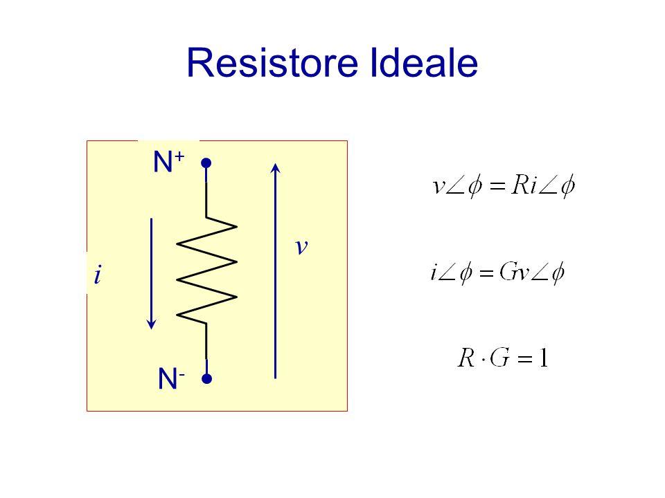 Resistore Ideale N + N-N- i v