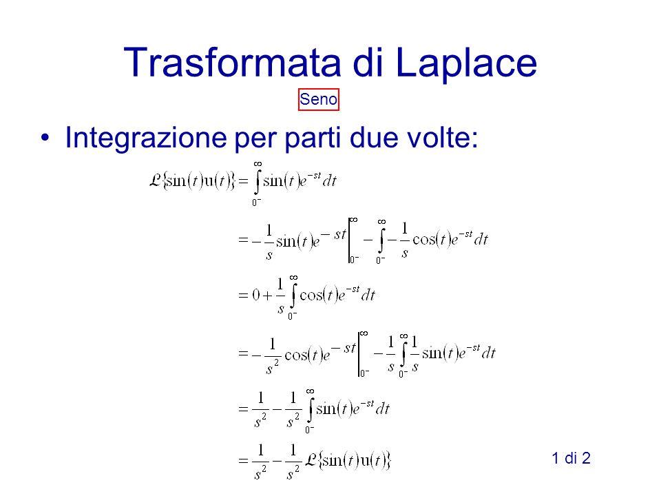 Trasformata di Laplace Seno Integrazione per parti due volte: 1 di 2