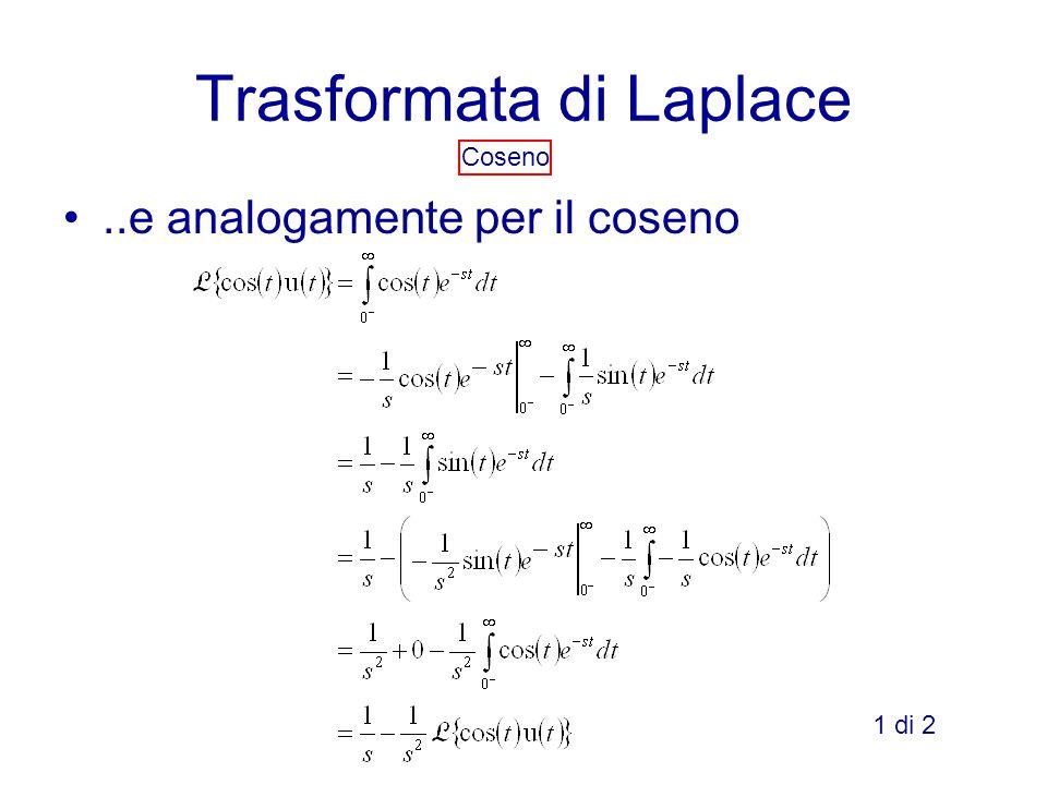 Trasformata di Laplace Coseno..e analogamente per il coseno 1 di 2