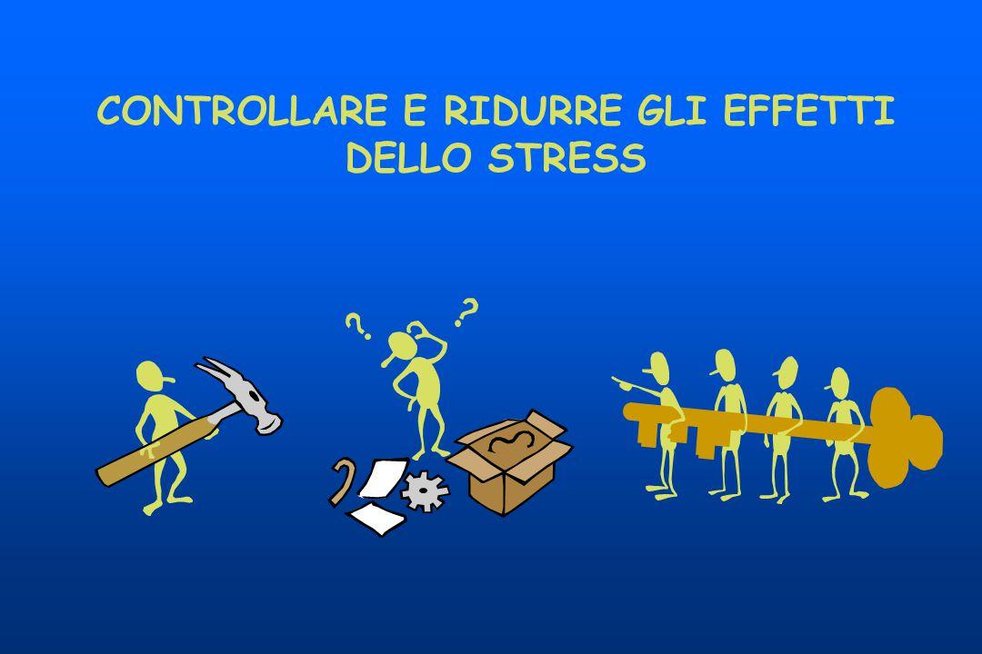 CONTROLLARE E RIDURRE GLI EFFETTI DELLO STRESS