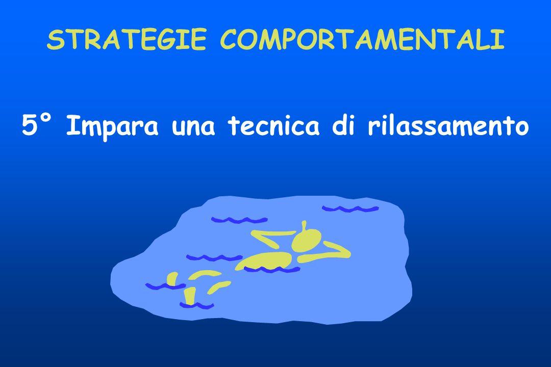 5° Impara una tecnica di rilassamento STRATEGIE COMPORTAMENTALI