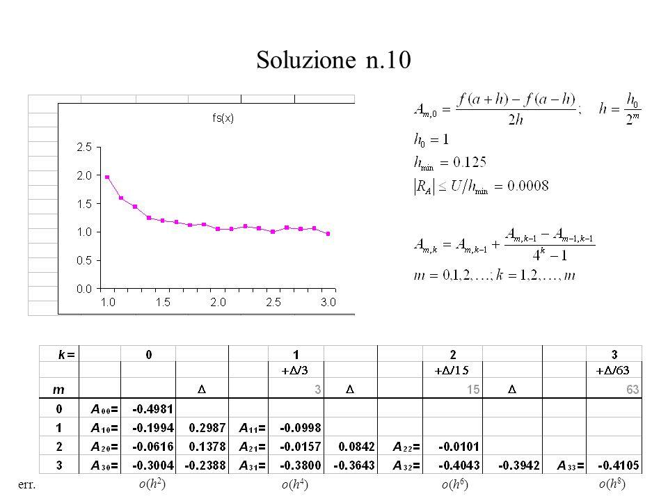 Soluzione n.10 err.o(h4)o(h4) o(h2)o(h2) o(h6)o(h6) o(h8)o(h8)
