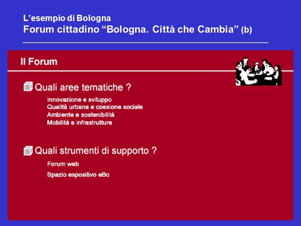 17 L'esempio di Bologna Forum cittadino Bologna. Città che Cambia (b)