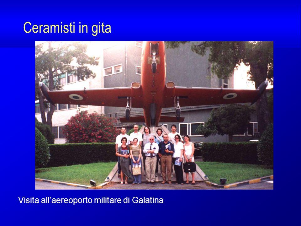 Ceramisti in gita Visita all'aereoporto militare di Galatina