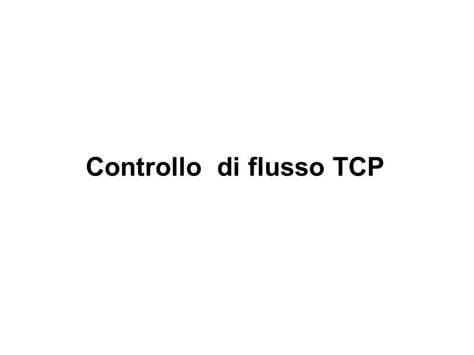 Elementi base del flusso TCP (1) Comunicazione punto-punto Un mittente, un destinatario.